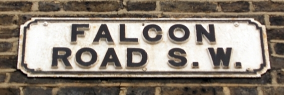 London's Lost Rivers - The Falcon Brook is remembered in the name Falcon Road