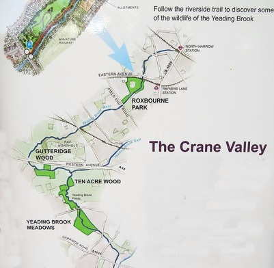 Crane Valley riverside trail along the Yeading Brook