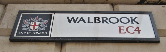 Walbrook EC4 named after the lost River Walbrook