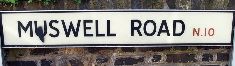 London's Lost Rivers - water related streetnames - Muswell Road, N10