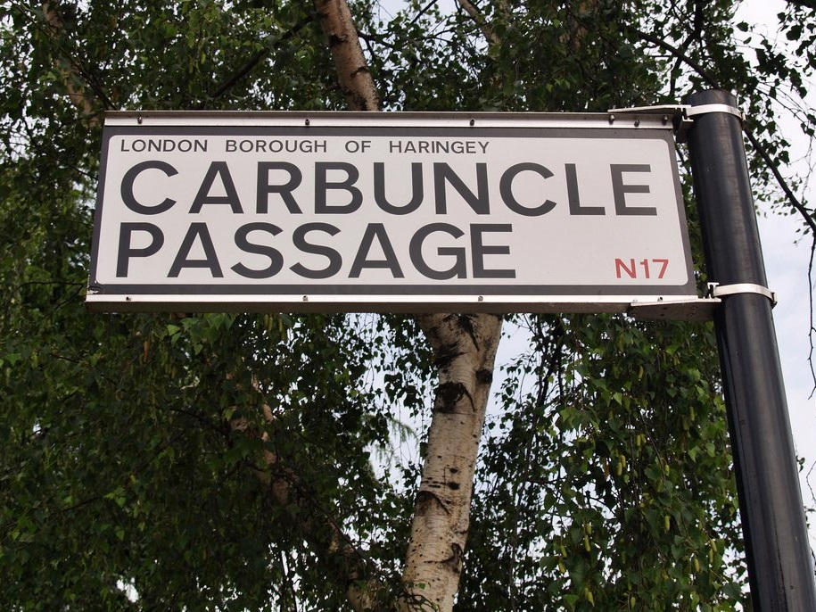 Carbuncle Passage marks the route of Carbuncle Ditch (aka Garbell Ditch)