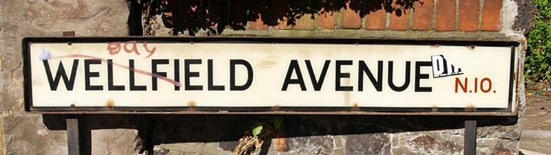 Muswell Stream. London's Lost Rivers - water related streetnames - Wellfield Road, N10