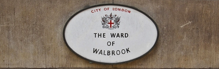 The Ward of Walbrook named after the lost River Walbrook