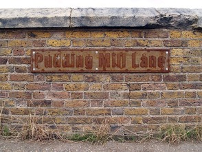 Pudding Mill Lane on the site of The Pudding Mill River in Stratford