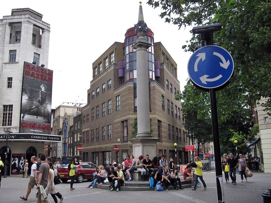 The Cock and Pye Ditch (aka Marshland Ditch) - Seven Dials in Covent Garden was once once wasteland and the scene of the first appearance of the Great Plague