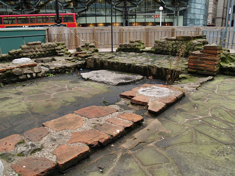 The Romans built built the Temple of Mithras on the east bank of the River Walbrook in the middle of the 3rd century AD