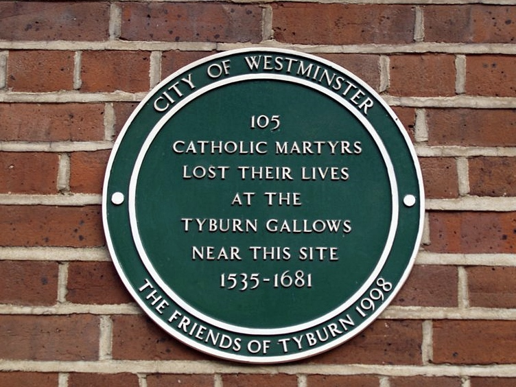 A Catholic convent near Marble Arch is dedicated to the memory of martyrs executed at Tyburn Gallows which were situated on the banks of the Tyburn Brook