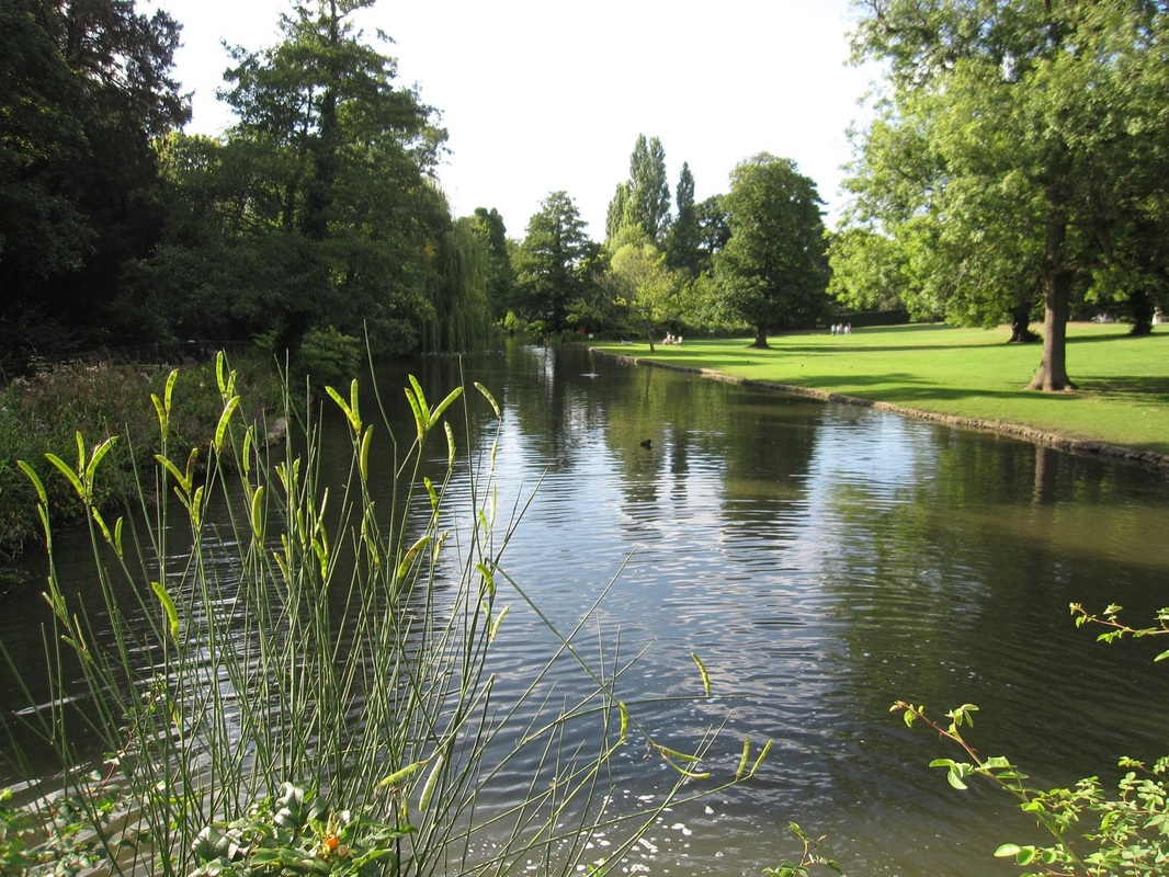 The waters of Bollo Brook originally fed the lakes and fountains at Chiswick House