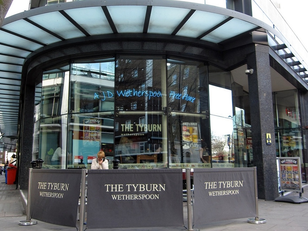 The Tyburn pub in Marble Arch neamed after one of London's lost rivers and the gallows of the same name