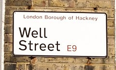 Hackney Brook - Well Street  E9 - watery clues in streetnames