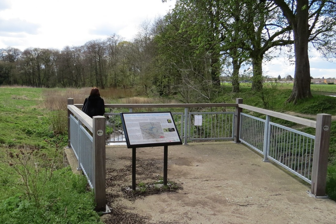 The source of the River Lea at Wellhead in Leagrave
