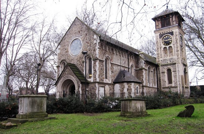 St pancras old Church on the route of the River Fleet with author Paul Talling on his walking tour