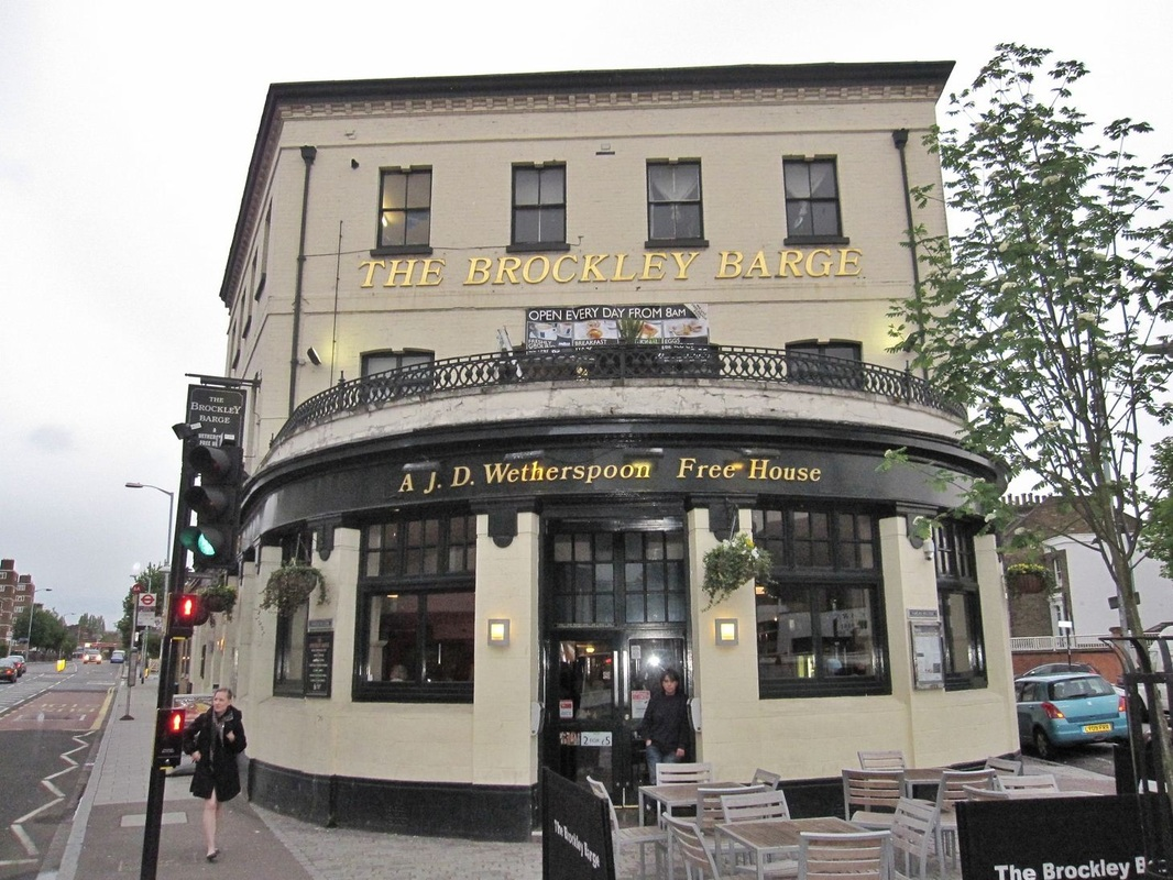 The Brockley Barge Wetherspoon pub in memory of the Croydon Canal