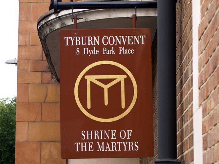 A Catholic convent is dedicated to the memory of martyrs executed at Tyburn Gallows which were situated on the banks of the Tyburn Brook