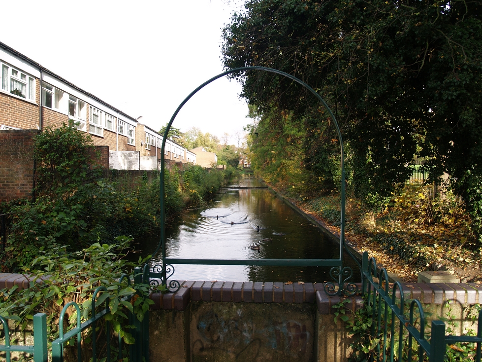 The Croydon Canal in Betts Park in Anerley