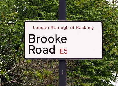 Hackney Brook - Brook Road E5 - watery clues in streetnames
