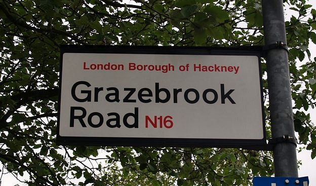 Hackney Brook - Grazebrook Road London E16 - watery clues in streetnames