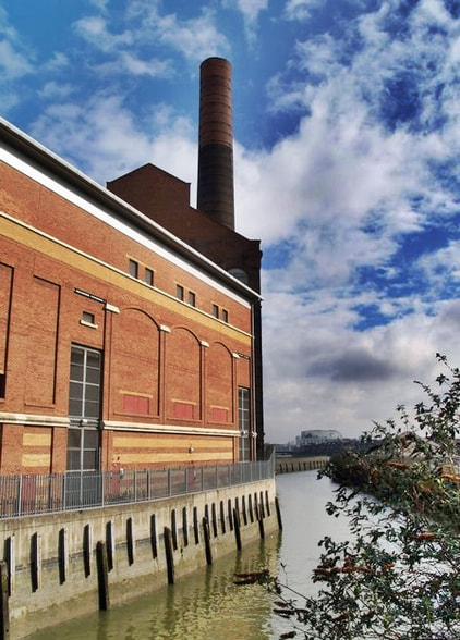 London's Lost Canals: Chelsea Creek running alongside Lots Road Power Station is a surviving reminder of Counter's Creek and the long lost Kensington Canal